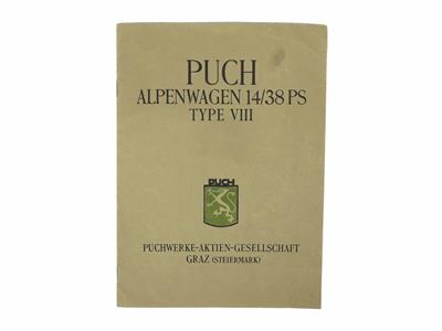 Puch Alpenwagen 14/38 PS, Type XIII